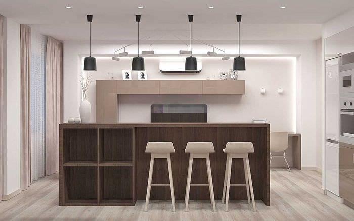 идея применения светового дизайна в ярком стиле дома