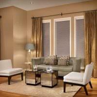 идея применения яркого бежевого цвета в дизайне комнаты