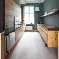идея применения светлого дизайна кухни фото