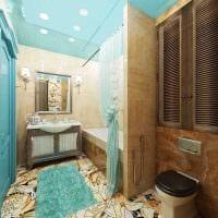 идея применения яркого голубого цвета в дизайне комнаты картинка