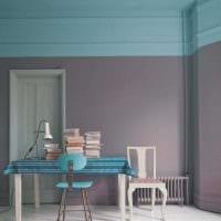 идея применения интересного голубого цвета в стиле квартиры фото