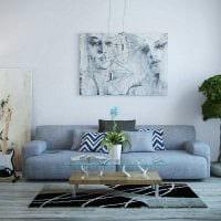 вариант использования яркого голубого цвета в дизайне комнаты картинка