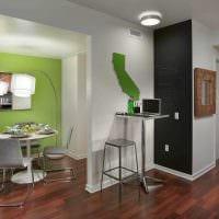 вариант применения зеленого цвета в красивом дизайне комнаты фото