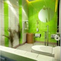 вариант использования зеленого цвета в красивом дизайне квартиры картинка