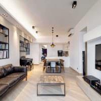 вариант светлого стиля двухкомнатной квартиры фото