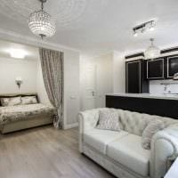 идея необычного дизайна двухкомнатной квартиры в хрущевке фото
