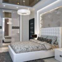 вариант светлого дизайна гостиной спальни фото