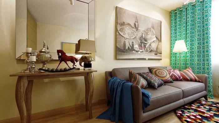 идея красивого дизайна спальни гостиной