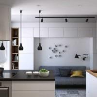 вариант светлого стиля кухни 14 кв.м картинка