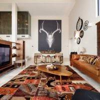 идея светлого дизайна гостиной в стиле пэчворк картинка