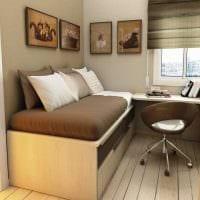 идея яркого дизайна малогабаритной комнаты фото