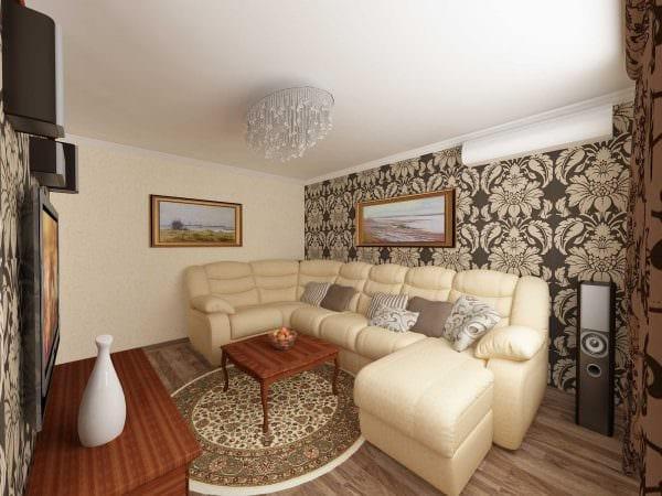 идея красивого стиля маленькой комнаты картинка