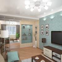 вариант красивого интерьера гостиной комнаты 18 кв.м. картинка