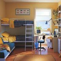 идея яркого стиля детской комнаты для двоих детей картинка
