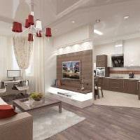 вариант яркого дизайна двухкомнатной квартиры в хрущевке фото