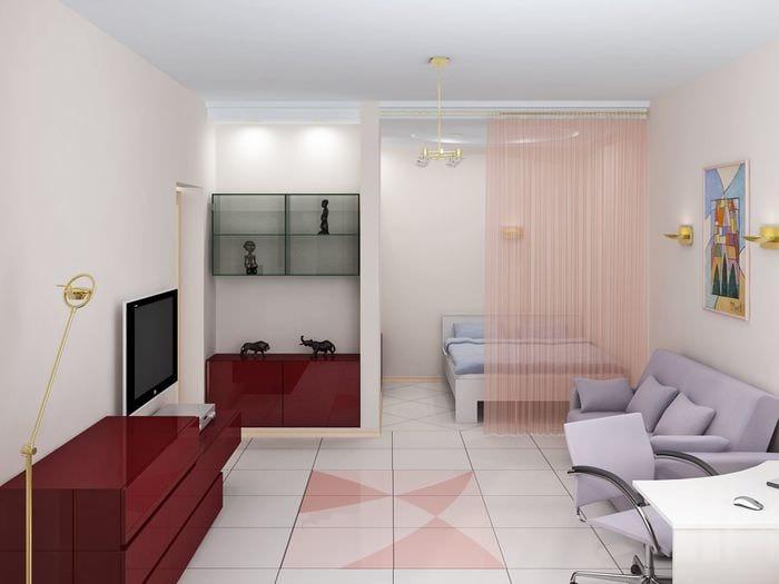 вариант необычного декора двухкомнатной квартиры