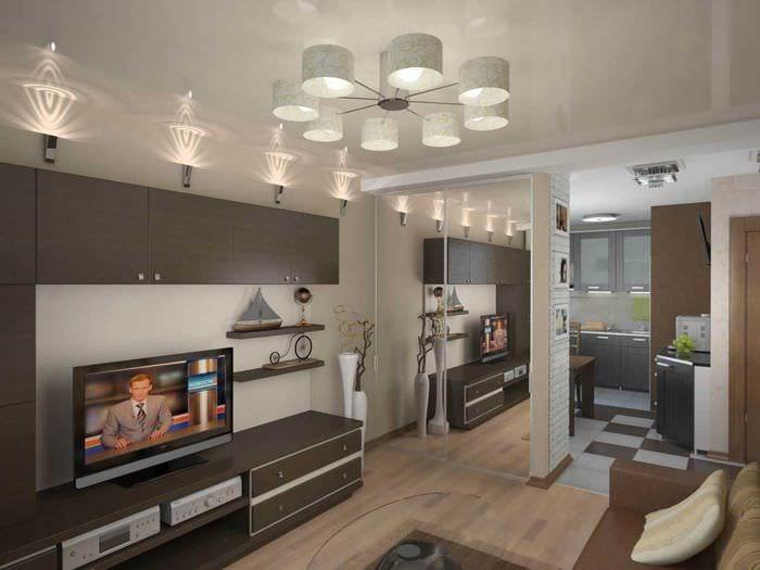 пример необычного интерьера двухкомнатной квартиры