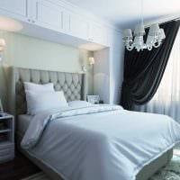 идея яркого стиля спальной комнаты 18 кв.м. фото