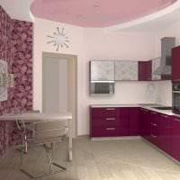 пример светлого стиля кухни 14 кв.м картинка