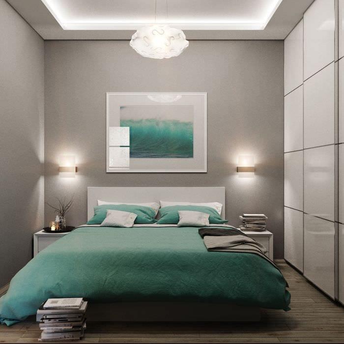 идея яркого интерьера маленькой комнаты