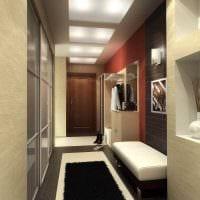 идея необычного стиля современной прихожей комнаты картинка