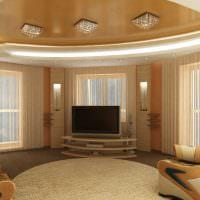 вариант красивого дизайна гостиной в частном доме фото