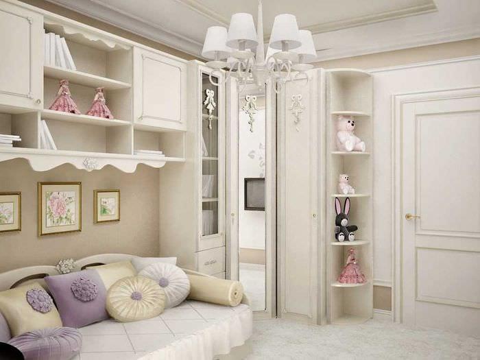 идея яркого декора комнаты для девочки 12 кв.м