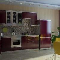 вариант светлого стиля кухни 9 кв.м фото
