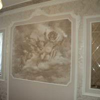 вариант необычного стиля дома с росписью стен фото