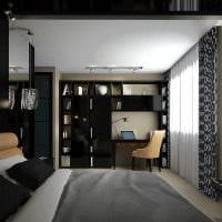 идея светлого стиля маленькой комнаты в общежитии фото