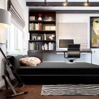 идея светлого стиля спальной комнаты для молодого человека картинка