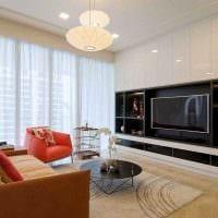 идея светлого интерьера гостиной спальни 20 кв.м. картинка