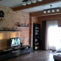 идея яркого стиля зала в частном доме фото