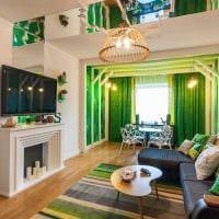 идея яркого сочетания цвета в стиле современной квартиры фото