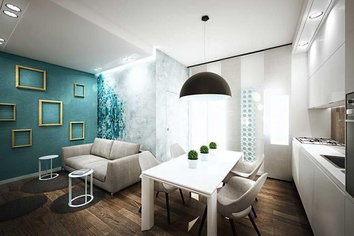 идея красивого сочетания цвета в декоре современной комнаты