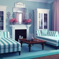 идея светлого сочетания цвета в декоре современной комнаты картинка