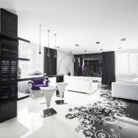 вариант необычного сочетания цвета в интерьере современной комнаты картинка