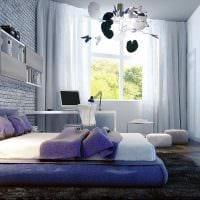 идея яркого современного стиля детской комнаты фото