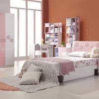 вариант светлого дизайна детской комнаты для девочки 12 кв.м картинка