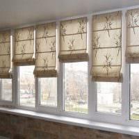 идея красивого интерьера детской с римскими шторами картинка