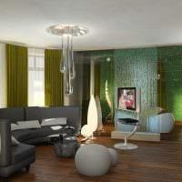 идея необычного стиля зала в частном доме фото