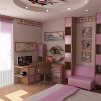 идея красивого стиля комнаты для девочки 12 кв.м фото