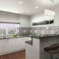 пример красивого дизайна кухни 14 кв.м фото