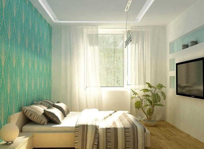 идея светлого стиля маленькой комнаты
