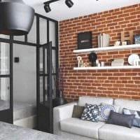 идея яркого стиля малогабаритной комнаты фото