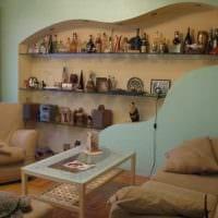 идея красивого интерьера спальной комнаты 18 кв.м. фото