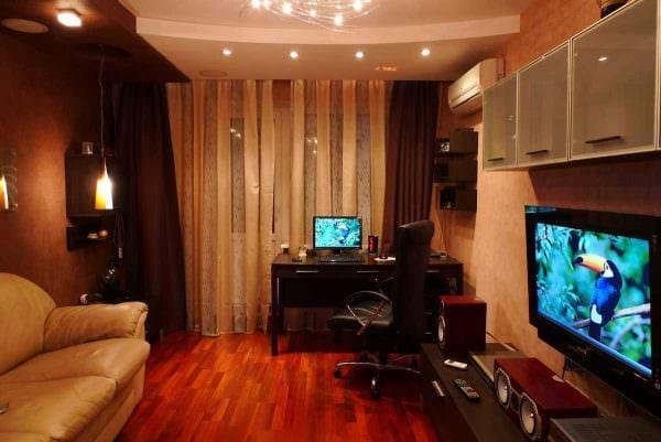 идея красивого интерьера спальной комнаты для молодого человека картинка
