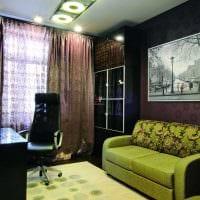вариант яркого декора спальной комнаты для молодого человека картинка