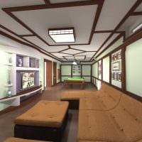 вариант светлого декора бильярдной комнаты картинка