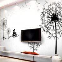 вариант яркого декора квартиры с росписью стен картинка